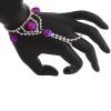 Hand Jewellery Drop Red Aurora Borealis